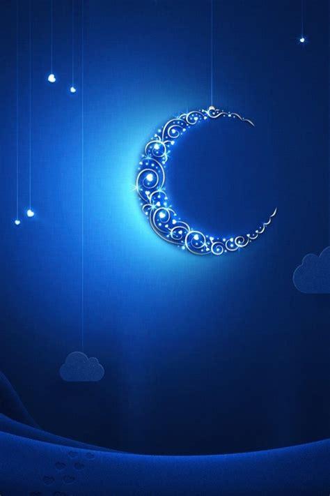 crescent moon iphone 月夜のイラスト壁紙 iphone壁紙ギャラリー