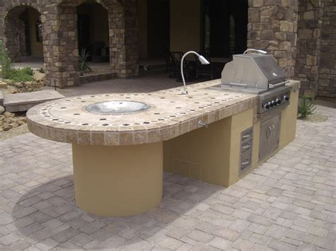 spicing up patio designs with bbq islands desert