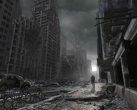 Post Apocalyptic Background Post Apocalyptic City Ruins Wallpaper Background