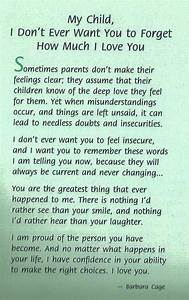 inspirational letter to son letter of recommendation With letters to my child book