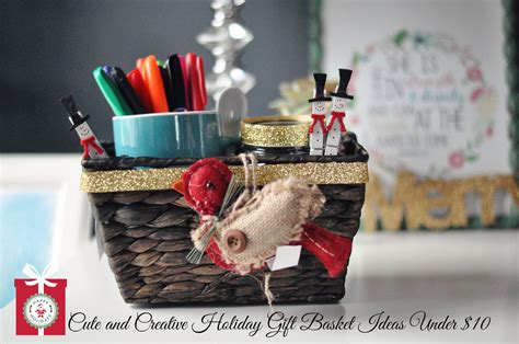 diy christmas gift baskets diy christmas gifts cute creative holiday gift baskets for under 10 youtube
