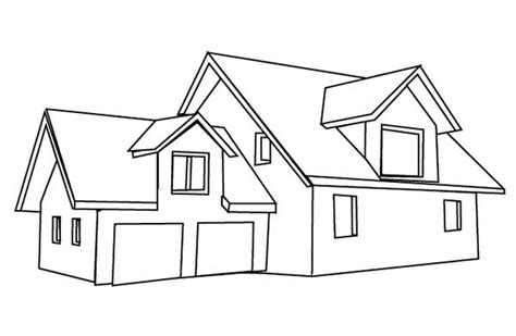 Perfect Coloring Pages Houses Homes Adornment Example