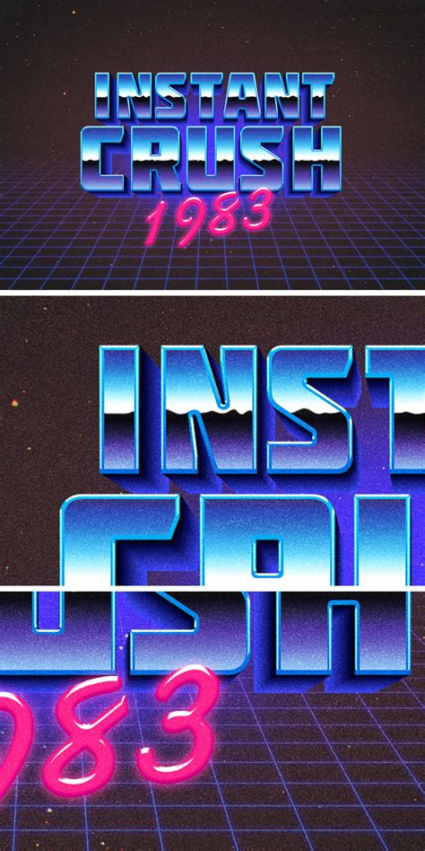 retro typography effect graphicburger