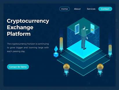 Exchange Crypto Currency Website Cryptocurrency Header Tips