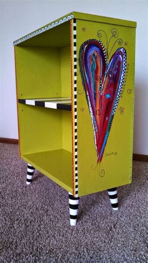 pin  joan skelley  cool furniture whimsical painted