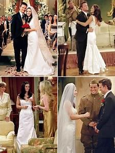 monica geller39s wedding gown friends pinterest With friends wedding dress