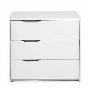 commode 3 tiroirs blanche