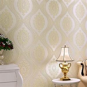 3D Luxury European Wallpaper Damask Modern Non Woven ...