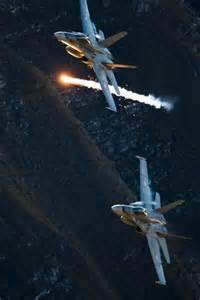 Jet Fighter Plane Flares