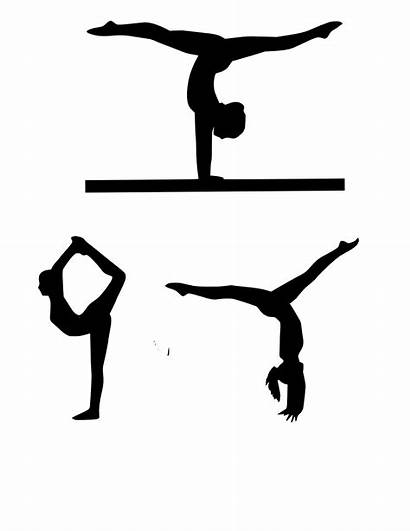 Gymnastics Printable Silhouettes Gifts Cakes Labels Coach