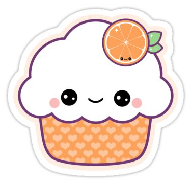 small lightweight travel quot orange cupcake quot stickers by sugarhai redbubble