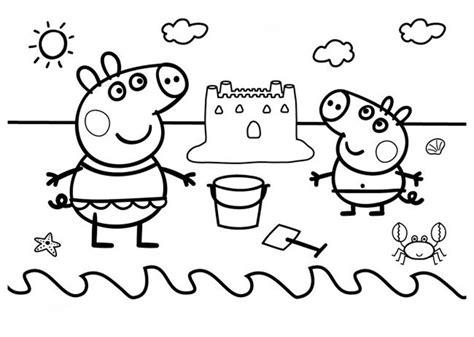 dibujos peppa pig  imprimir  colorear