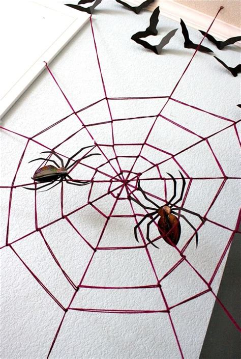 How To Decorate With Spider Web - diy decorations spooky spider web and a