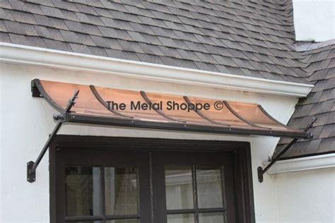 metal shoppe decorative copper  steel exterior awnings   metal door awning