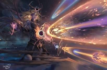Lux Cosmic Dark Artstation Lol Legends League