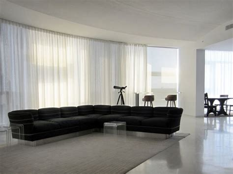 motorized sheer pinch pleat curtain installed   curved