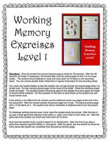 working memory exercises  yourtherapysource teachers