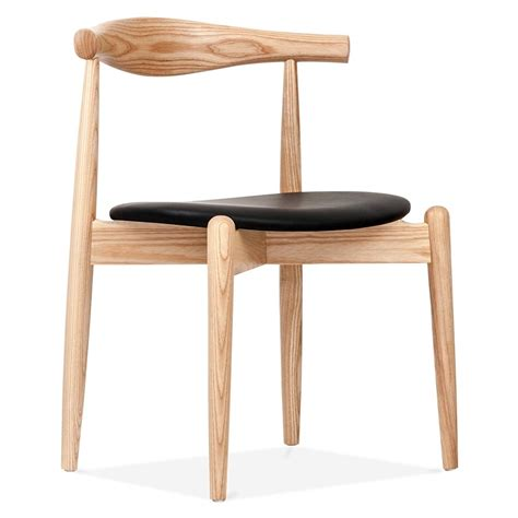 chaises design bois hans wegner style chair with seat