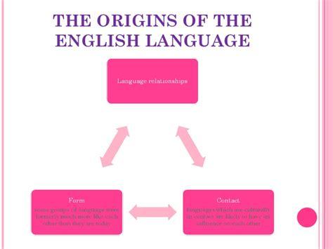 the origins of the english language