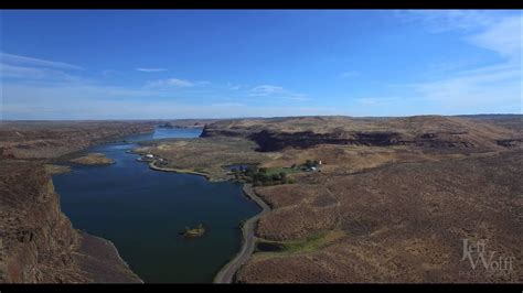 aerial video  moses coulee  jameson lake central
