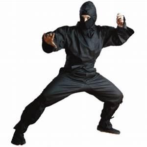 Traditional Ninja Gi and uniform outfit - all black with ...