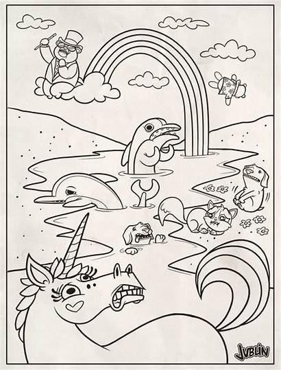 Frank Lisa Coloring Pages Oil Spill Printable