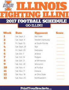 Printable Football Schedule 2017