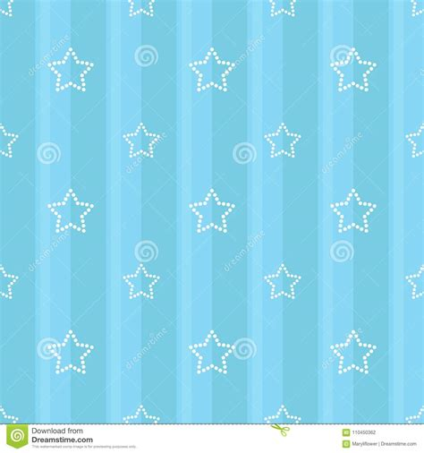 striped seamless blue pattern  dotted stars children