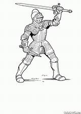 Armor Colorkid Coloring Knights sketch template
