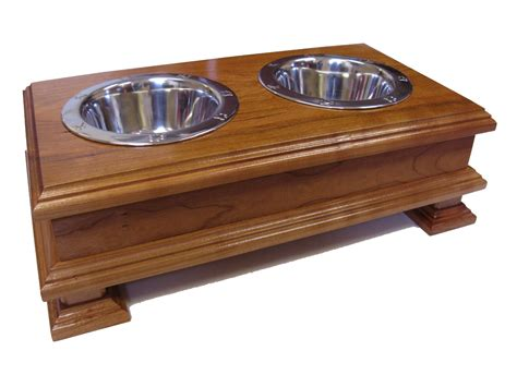 elevated cat food table finest solid wood cherry elevated dog feeder raised dog