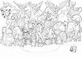 Pokemon Coloring Pages Beast sketch template