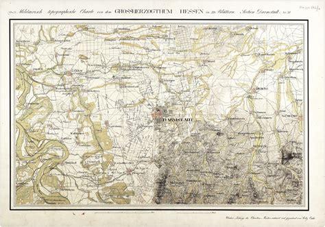 Darmstadt Und Umgebung by Johannesviertel Darmstadt Und Hessen Karten Hessen Ulb