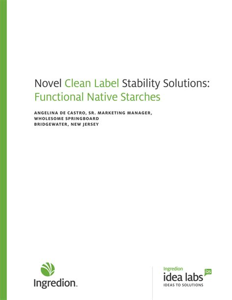 Novel Clean Label Stability Solutions