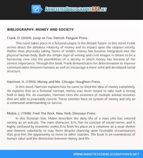 Free Apa Bibliography Template by Free Sle Annotated Bibliography Apa