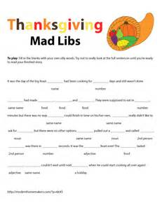 Halloween Mad Libs Online by Thanksgiving Mad Libs Modern Homemakers