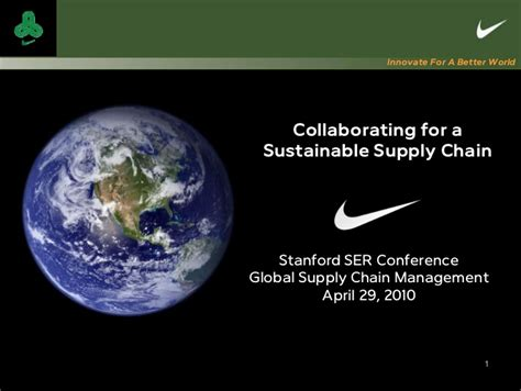 nike collaborating   sustainable supply chain
