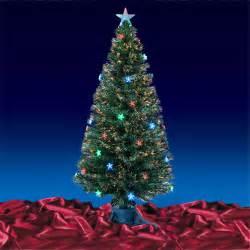 green fibre optic artificial christmas tree multi led stars 3ft 4ft 5ft or 6ft ebay