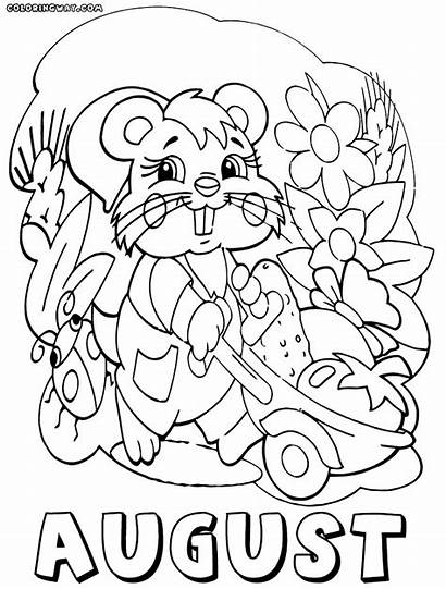 Coloring August Pages Months Alsina Month Sheets