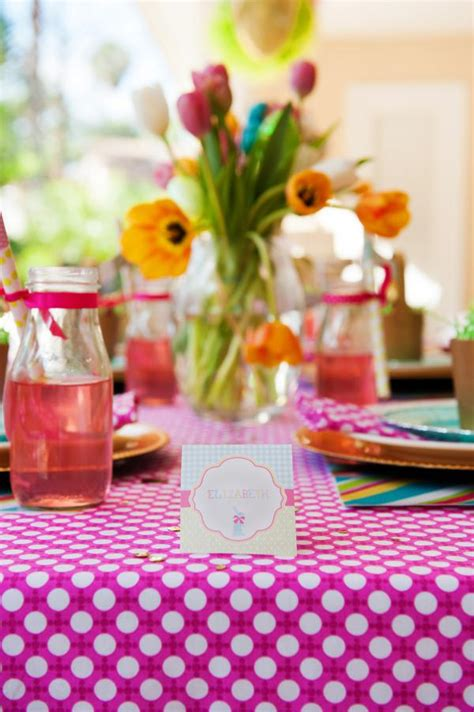 Kara's Party Ideas Pastel Easter Themed Spring Party Via
