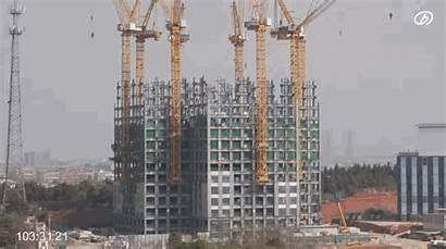 Skyscraper Built Days Chinese Storey China Build