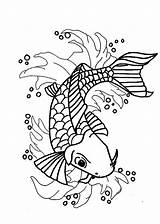 Koi Fish Coloring Pages Japanese Nishikigoi Printable Print Getcolorings Popular sketch template