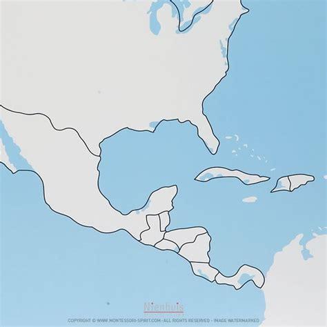 north america control map unlabeled montessori spirit