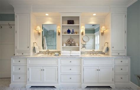 bathroom white classic custom cabinets houston
