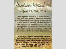 Administrative's Professional Week The Sylvester Local