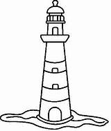 Lighthouse Drawing Drawings Coloring Lighthouses Painting Clipart Easy Pages Cliparts Doodle Pencil Templates Projects Faro Rock Dot Clip Line Decor sketch template