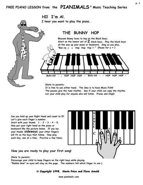 Free Piano Worksheets & Free Sheet Music For Kids  Pianimals  Piano  Pinterest  Free Sheet