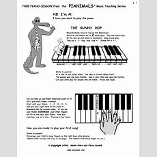 Free Piano Worksheets & Free Sheet Music For Kids Pianimals
