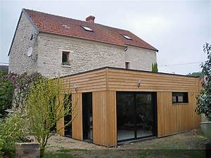 extension bois maison idees decoration interieure With extension maison prix m2