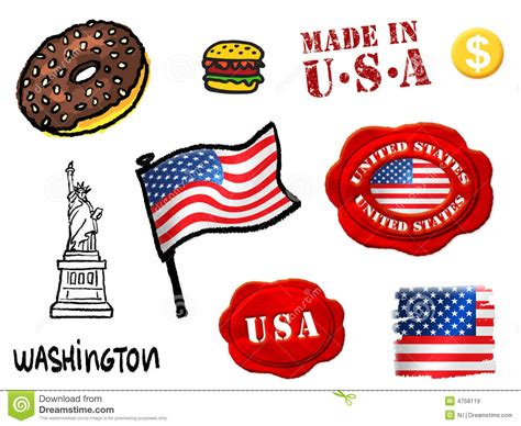 cuisine des etats unis symboles des etats unis illustration stock image du