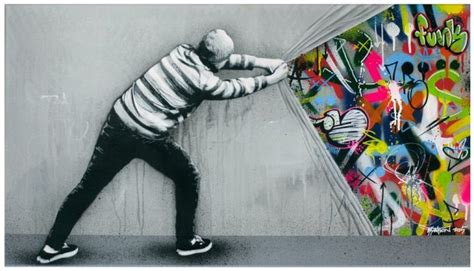 Graffiti Mural Artists by Hybrid Graffiti Black And White Stencils Bring Colorful